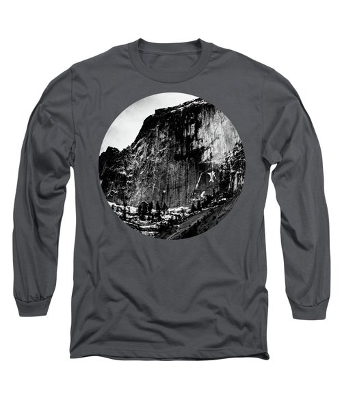 The Great Wall, Black And White Long Sleeve T-Shirt by Adam Morsa
