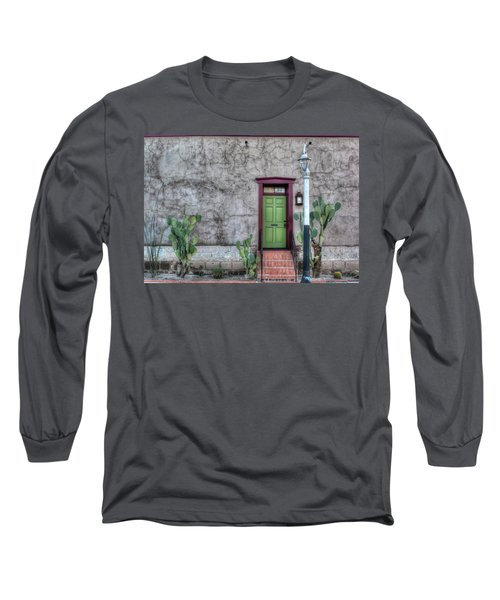 Long Sleeve T-Shirt featuring the photograph The Green Door by Lynn Geoffroy