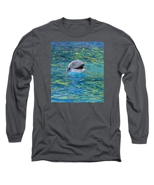 The Happy Dolphin Long Sleeve T-Shirt by Nikki McInnes