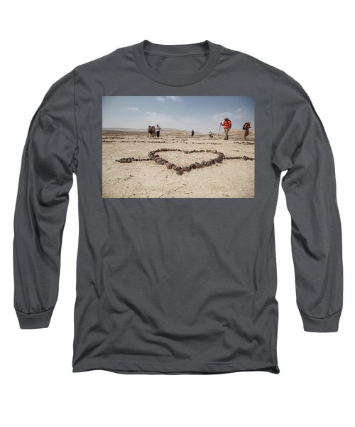 The Heart Of The Desert Long Sleeve T-Shirt by Yoel Koskas