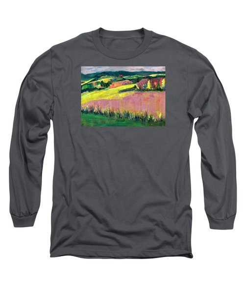Long Sleeve T-Shirt featuring the painting The Hills Are Alive by Betty Pieper