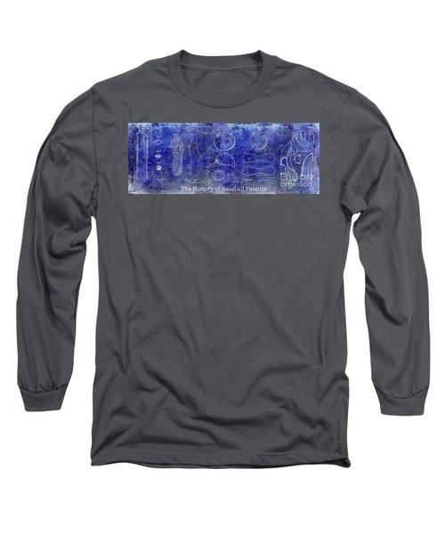 The History Of Baseball Patents Blue Long Sleeve T-Shirt by Jon Neidert