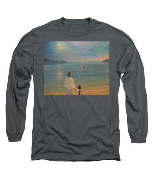 Long Sleeve T-Shirt featuring the painting The Homecoming by Donna Tucker