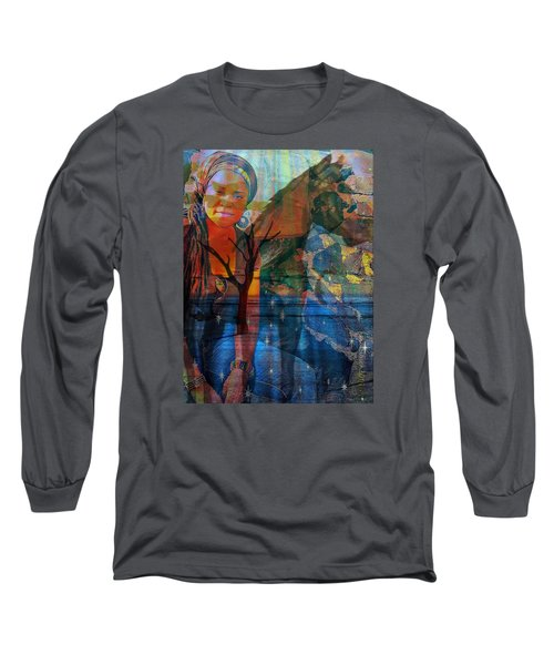 Long Sleeve T-Shirt featuring the digital art The Horse And Me by Fania Simon