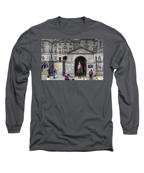 The Horse Guard At Whitehall Long Sleeve T-Shirt by Karen McKenzie McAdoo