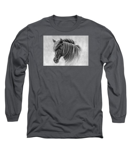The Horses Of Iceland Long Sleeve T-Shirt by Brad Grove