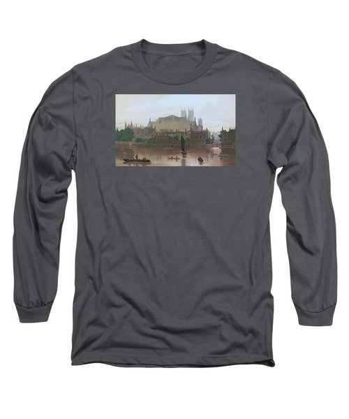 The Houses Of Parliament Long Sleeve T-Shirt by George Fennel Robson