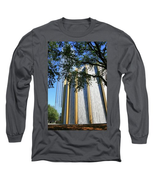 The Houston Water Wall And Williams Tower Long Sleeve T-Shirt