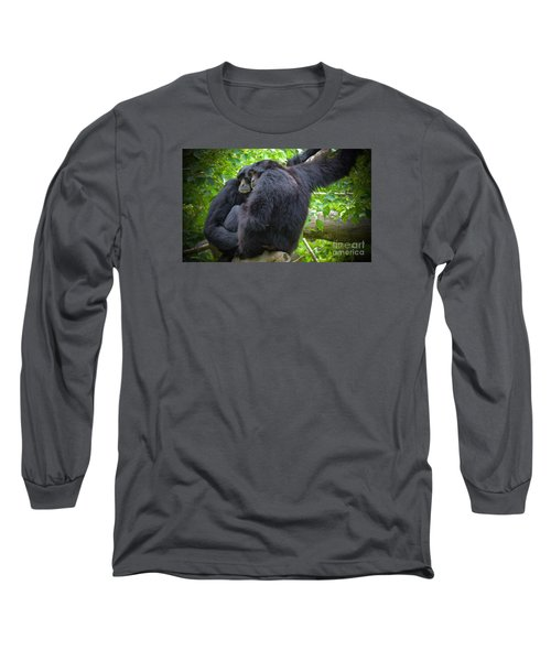 Long Sleeve T-Shirt featuring the painting The Huddle by Judy Kay