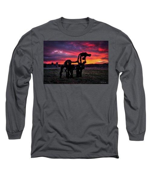 The Iron Horse Sun Up Art Long Sleeve T-Shirt