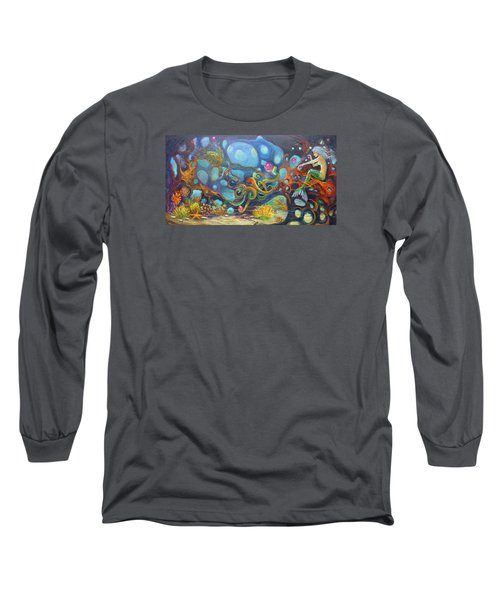 The Juggler Long Sleeve T-Shirt by Claudia Goodell