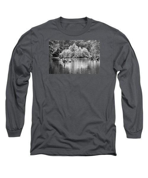 The Kayaker Long Sleeve T-Shirt by Robert Charity