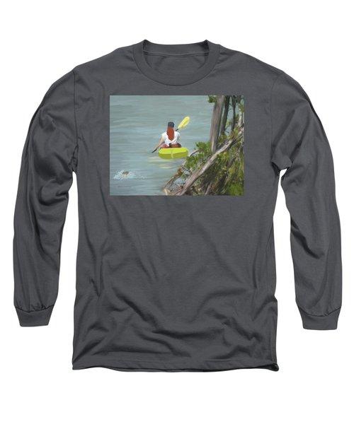 The Kayaker Long Sleeve T-Shirt by Rosalie Scanlon