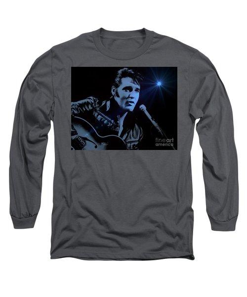 The King Rocks On Long Sleeve T-Shirt by Al Bourassa