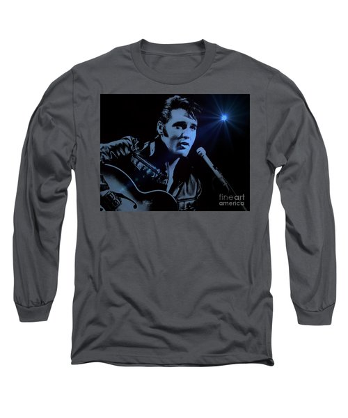 The King Rocks On Long Sleeve T-Shirt