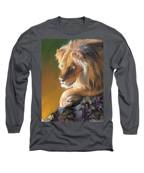 Long Sleeve T-Shirt featuring the painting The King by Sherry Shipley