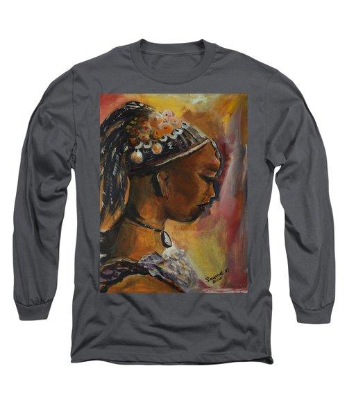 The Lady Long Sleeve T-Shirt by Bernadette Krupa