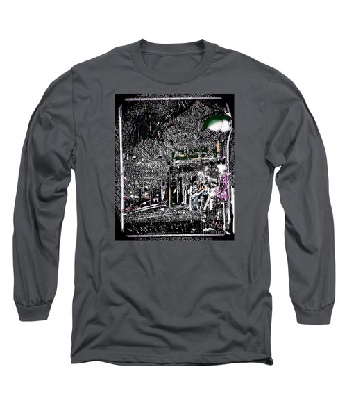 The Lady In The Bus Stop Long Sleeve T-Shirt