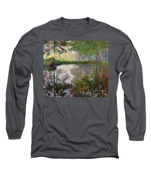 The Lake At Montgeron Long Sleeve T-Shirt