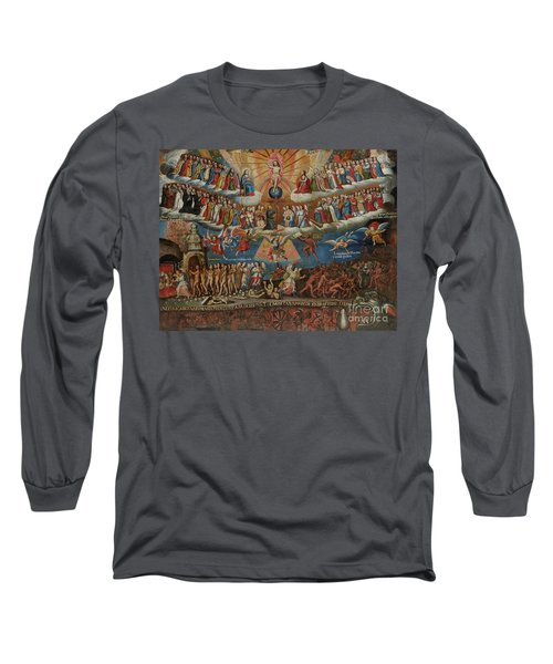 The Last Judgement, Cuzco School, Late 17th Century Long Sleeve T-Shirt