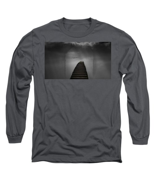 Long Sleeve T-Shirt featuring the photograph The Last Steps by Keith Elliott