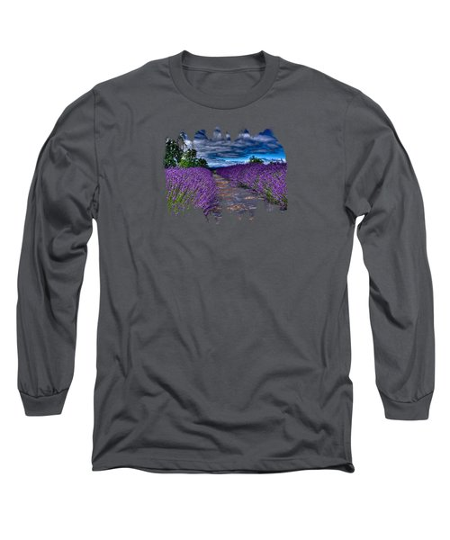 Long Sleeve T-Shirt featuring the photograph The Lavender Field by Thom Zehrfeld