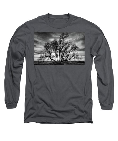The Light Comes Through Long Sleeve T-Shirt by Monte Stevens