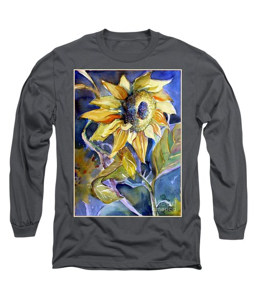The Light Of Sunflowers Long Sleeve T-Shirt by Mindy Newman