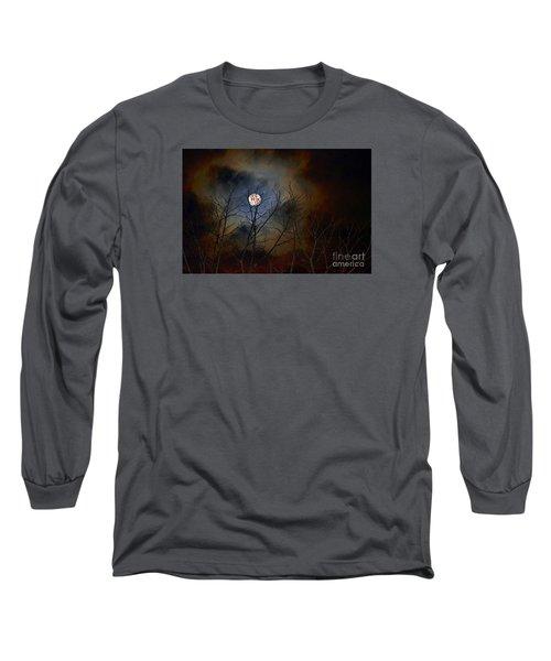 Long Sleeve T-Shirt featuring the photograph The Light Of The Moon by Lila Fisher-Wenzel