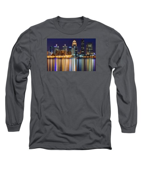 The Lights Of A Louisville Night Long Sleeve T-Shirt by Frozen in Time Fine Art Photography