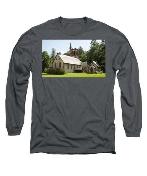 The Little Brown Church In The Vale Long Sleeve T-Shirt by Carol Lynn Coronios