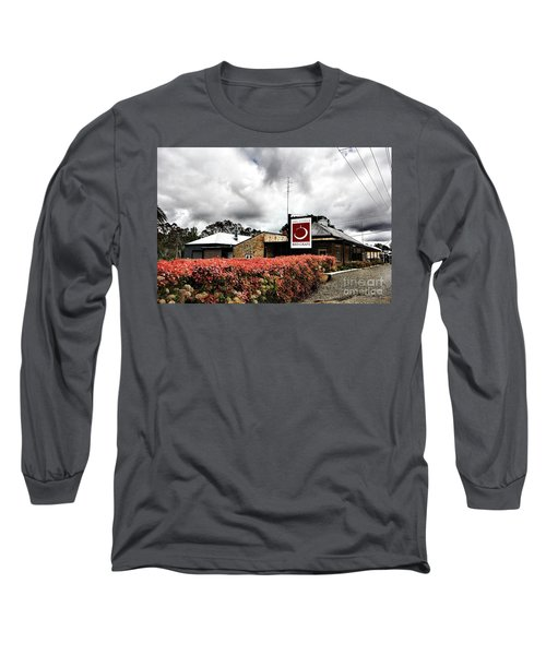 The Little Red Grape Winery   Long Sleeve T-Shirt by Douglas Barnard
