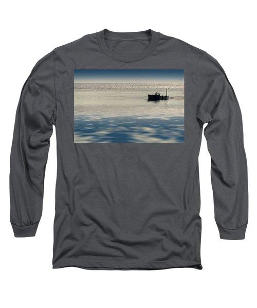 The Lobster Boat Long Sleeve T-Shirt by Rick Berk
