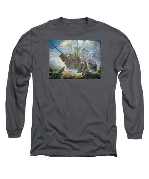 The Lost Ship Long Sleeve T-Shirt