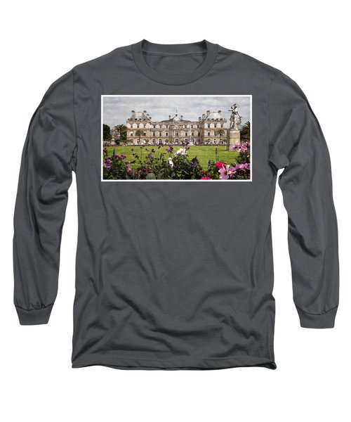 Long Sleeve T-Shirt featuring the digital art The Luxembourg Palace by Kai Saarto