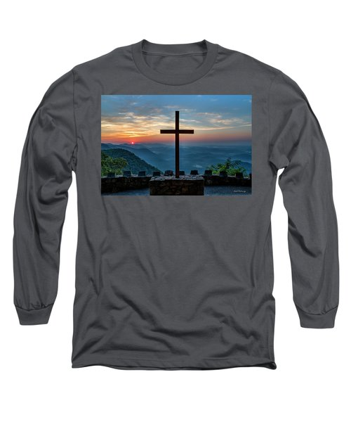 The Magnificent Cross Pretty Place Chapel Greenville Sc Great Smoky Mountains Art Long Sleeve T-Shirt