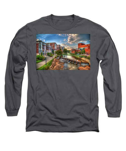 The Main Attraction Reedy River Greenville South Carolina Art Long Sleeve T-Shirt