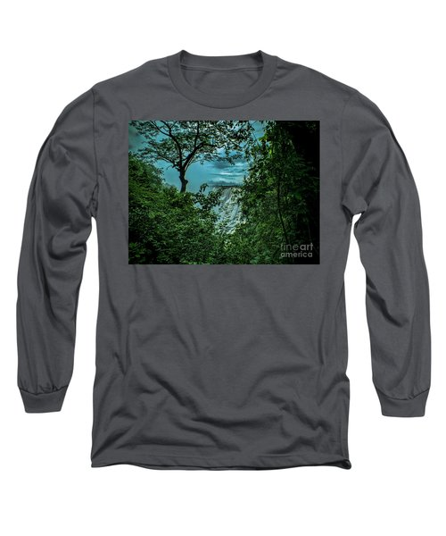 The Majestic Victoria Falls Long Sleeve T-Shirt by Karen Lewis