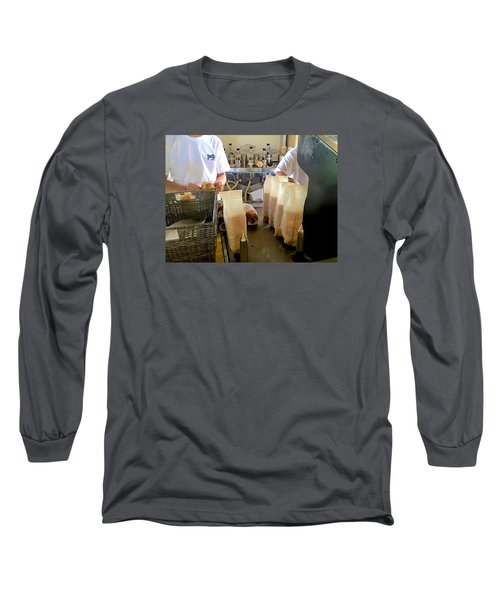 The Making Of A Puka Dog Long Sleeve T-Shirt by Brenda Pressnall