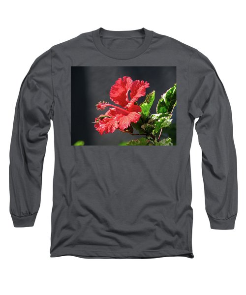 The Mallow Hibiscus Long Sleeve T-Shirt