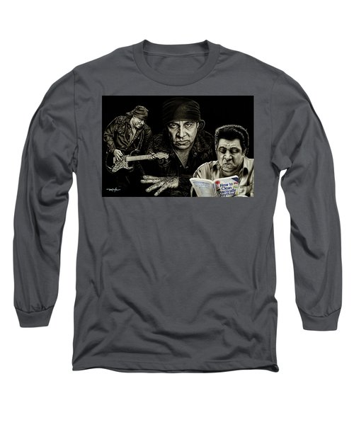 The Many Faces Of Lil Steven Long Sleeve T-Shirt