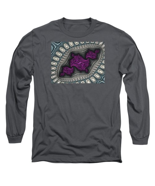 The Map Is Not The Territory Iv Long Sleeve T-Shirt by Manny Lorenzo