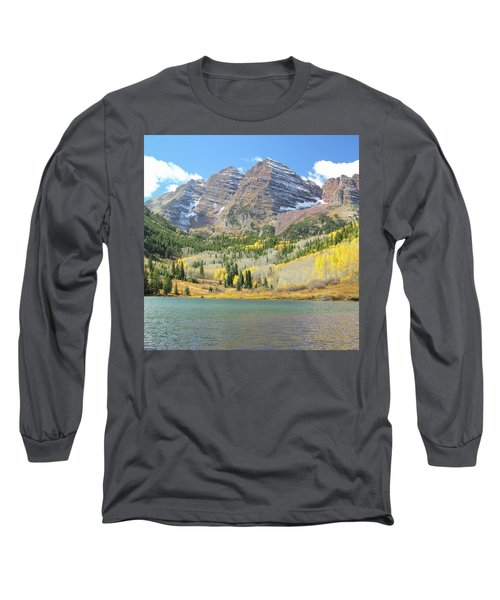 The Maroon Bells 2 Long Sleeve T-Shirt by Eric Glaser