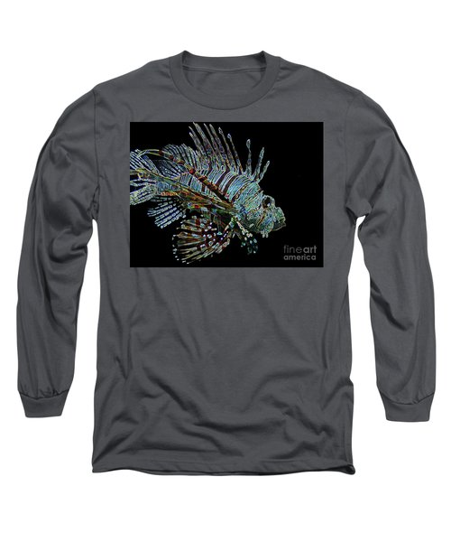 The Mighty Lion Fish Long Sleeve T-Shirt by Carol F Austin