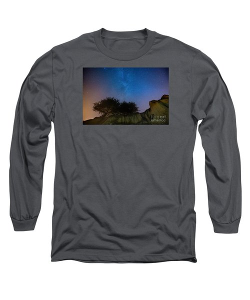 The Milky Way Above Shell Beach Long Sleeve T-Shirt