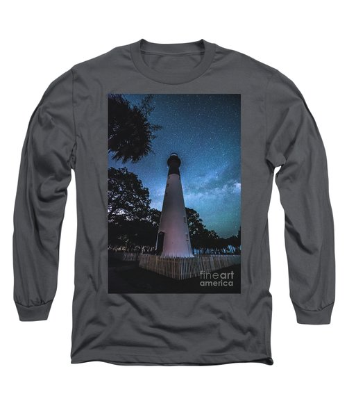 The Milky Way At Saint Helena Light House Long Sleeve T-Shirt