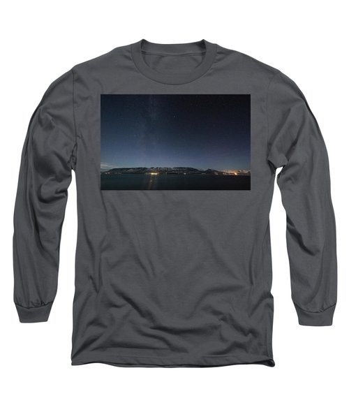 The Milky Way Over Northern Iceland Long Sleeve T-Shirt