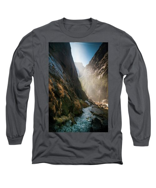 The Mist Trail Long Sleeve T-Shirt by Ralph Vazquez