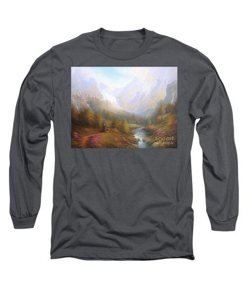 The Misty Mountains Long Sleeve T-Shirt by Joe  Gilronan