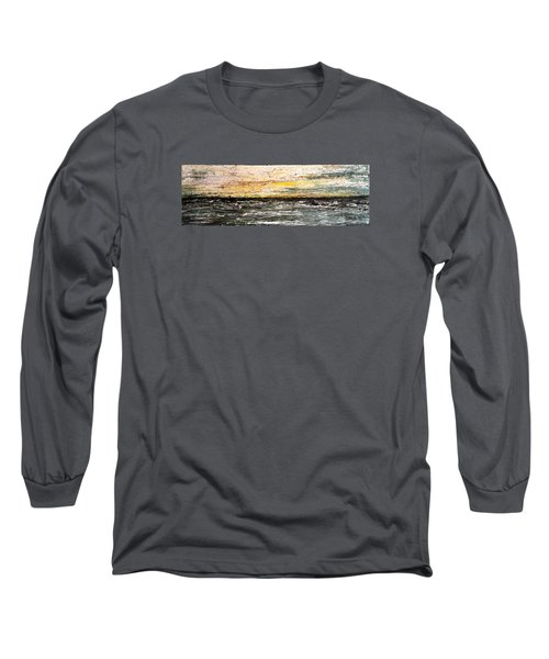 Long Sleeve T-Shirt featuring the painting The Moment 3 by Shabnam Nassir